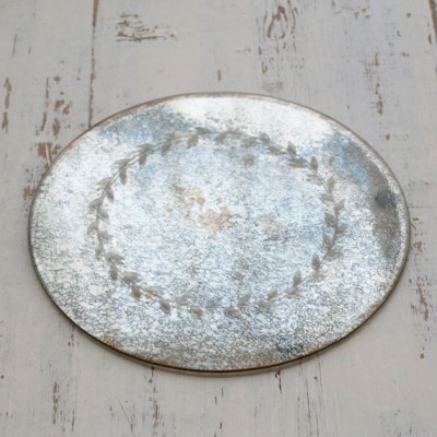 Antiqued mirror plate