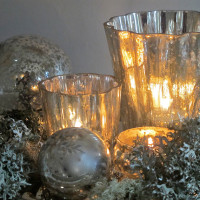 antiqued silver fluted votives 2