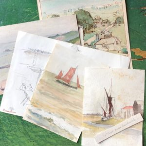 ANTIQUE WATERCOLOURS AND BROCANTE FINDS